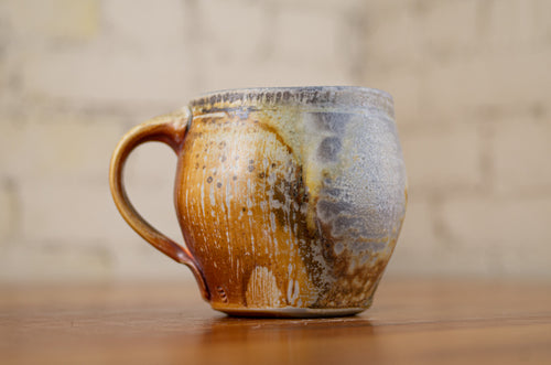 Wood-Fired Porcelain Square Mug