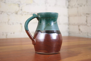 Mark's Mug in Verdant and Rust Red