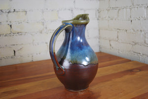 Pitcher in Rust Red and Breakfast Blue