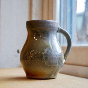 A Woodfired White Stoneware Mug