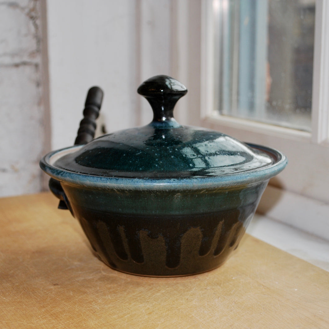 Gas-Fired Lidded Pate Dish