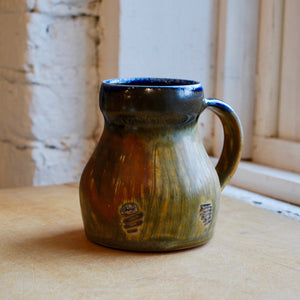 Soda-Fired Mug with Seashell Imprints