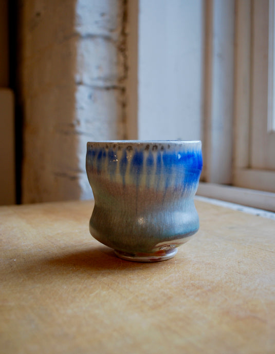 A Soda Fired Porcelain Cup