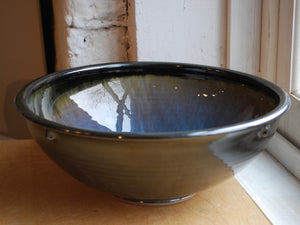 Breakfast Blue Serving Bowl