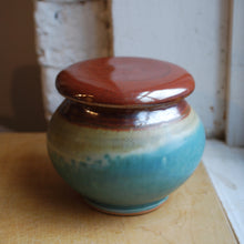 Load image into Gallery viewer, Turquoise Stoneware French Butter Keeper