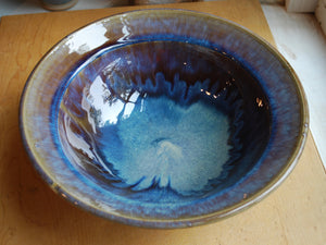 Gas Fired Blue Serving Bowl