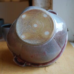 Soda-Fired Copper Glazed Bowl