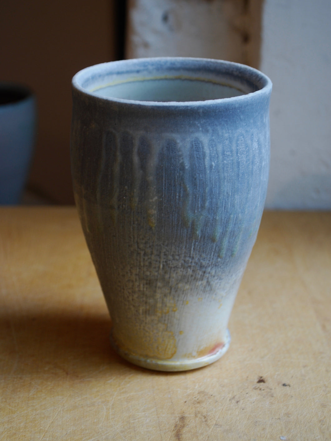 Wood-Fired Porcelain Tumbler