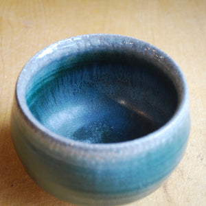 Soda-Fired Small Blue Bowl