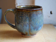 Load image into Gallery viewer, Gas-Fired Blue and Red Coffee Mug