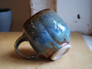 Gas-Fired Blue and Red Coffee Mug