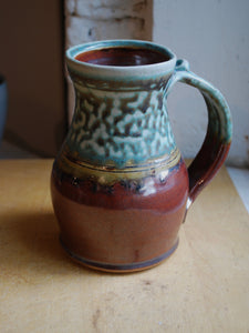 Gas-Fired Turquoise and Red Stein