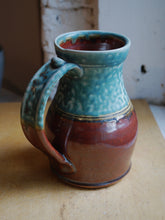 Load image into Gallery viewer, Gas-Fired Turquoise and Red Stein