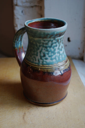 Gas Fired Turquoise and Red Stein