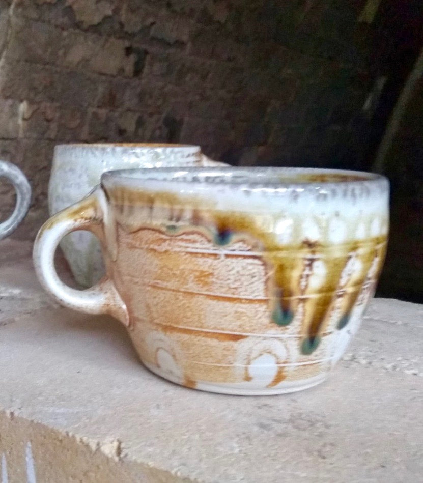 Soda-fired Porcelain Mug.