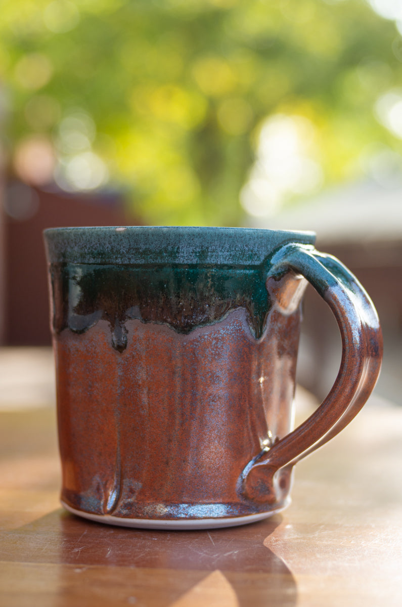Teal and Red Squared Mug