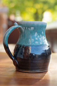 Mark's Mug in Black and Turquoise