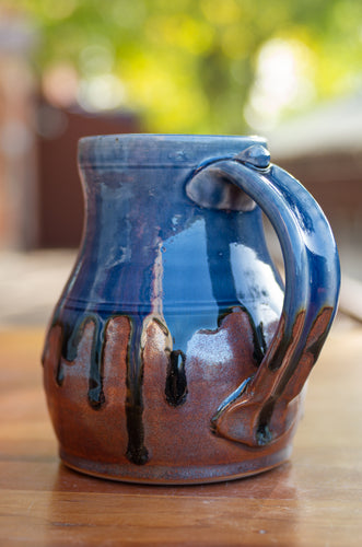Mark's Mug in Blue Ash and Rust Red
