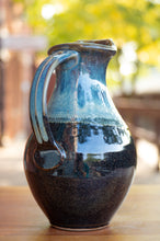 Load image into Gallery viewer, Medium Pitcher in Breakfast Blue and Black