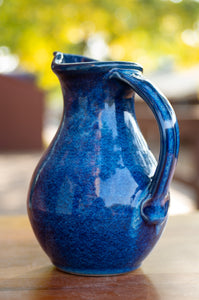 Small Pitcher in Ocean Blue
