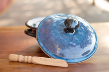 Load image into Gallery viewer, Lidded Pate Dish in Breakfast Blue and Black