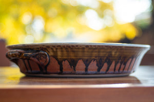 Honey Ash and Rust Red Pie Plate