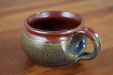 Load image into Gallery viewer, Breakfast Blue and Rust Red Soup Mug