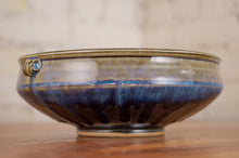 Load image into Gallery viewer, Serving Bowl Breakfast Blue and Black