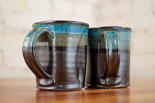Load image into Gallery viewer, Cerulean and Black Squared Mug