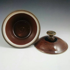 Honey Ash and Chocolate Lidded Pate Dish