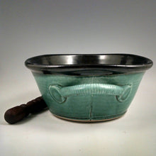 Load image into Gallery viewer, Turquoise and Black Pate Dish