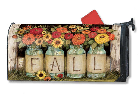 Fall Mason Jars Mail Wrap