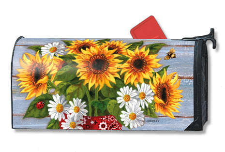 Bandana Sunflowers Mail Wrap