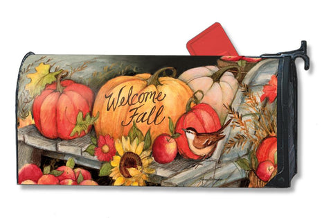 Welcome Fall Pumpkins Mail Wrap
