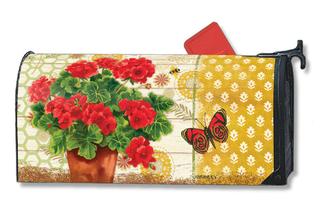 Potted Geraniums Mail Wrap