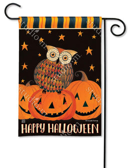 Owloween Fun Garden Flag