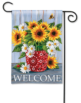 Bandana Sunflowers Garden Flag