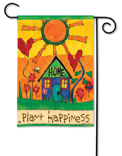 Plant Happiness Garden Flag