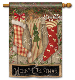 Christmas Stockings Standard Flag