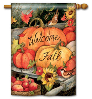 Welcome Fall Pumpkins Standard Flag