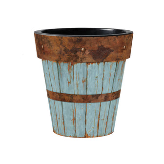 Blue Plank Art Planter
