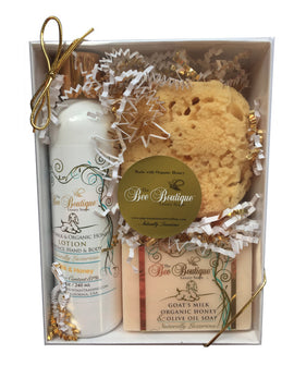 Lotion, Soap, and Sponge Gift Set