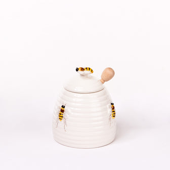 Beehive Honey Pot with Dipper