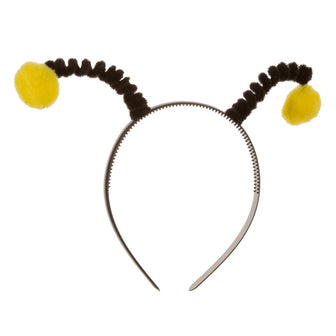 Headband with Yellow Pompoms