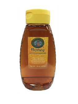 Honey with No Comb in Plastic Honeycomb Jar