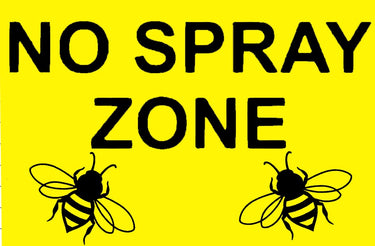 No Spray Zone Sign