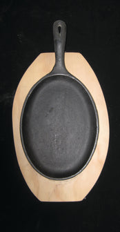 Oval Hot Plate with Handle and Base