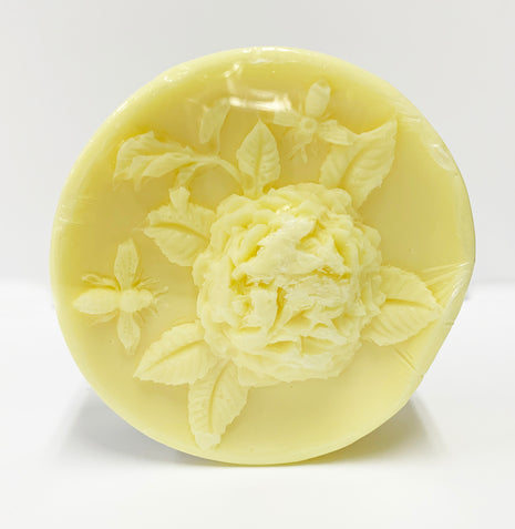 Round Luxury Soap with Bees and Flowers