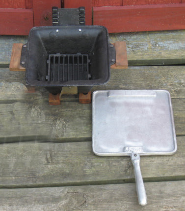 Mini Coal Grill with Griddle Top