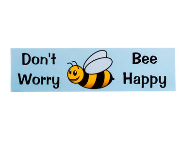 Bee Happy Bumper Sticker